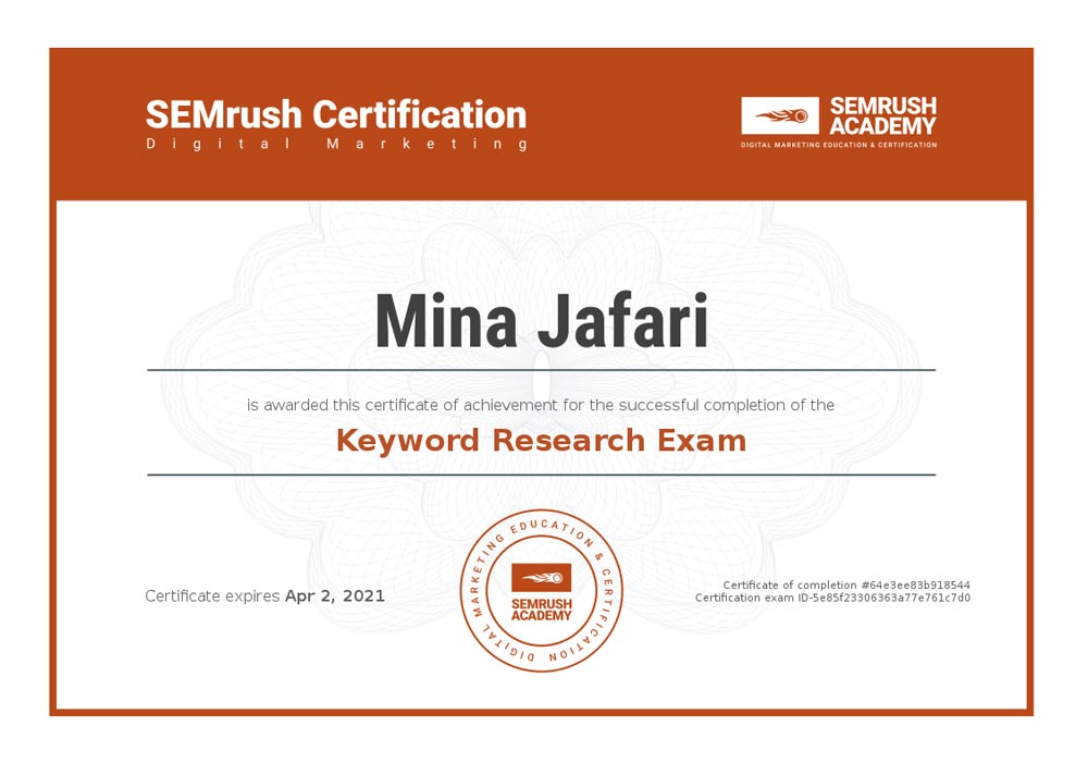 Keyword Research Exam