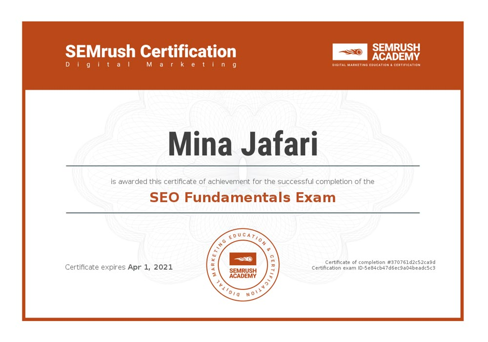 SEO Fundamental Exam